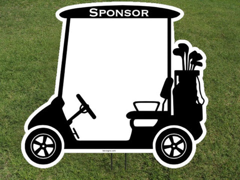 Golf Cart Sponsor Yard Sign - Sign Store