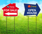 For Sale-Open House Yard Signs - Sign Store