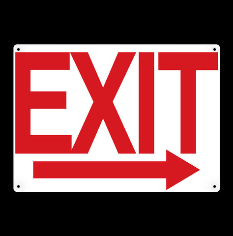 Exit Arrow Metal Sign - Sign Store