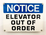 Elevator Out Of Order Metal Sign - Sign Store