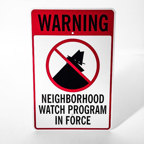 Neighborhood Watch Metal Sign - Sign Store
