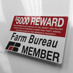Farm Bureau Reward Metal Sign - Sign Store