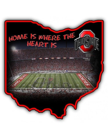 Ohio State Home Metal Sign - Sign Store