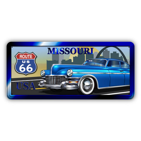 Route 66 Missouri Wooden Sign - Sign Store