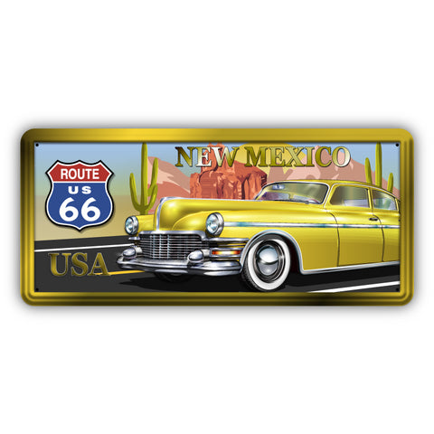 Route 66 New Mexico Wooden Sign - Sign Store