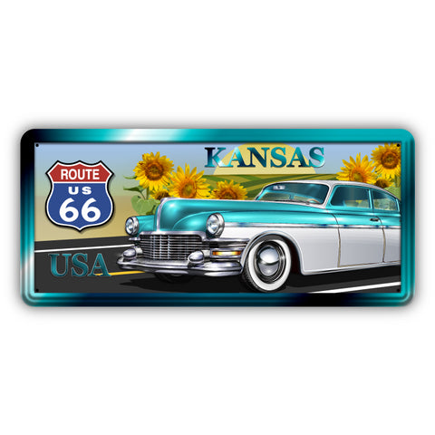 Route 66 Kansas Wooden Sign - Sign Store