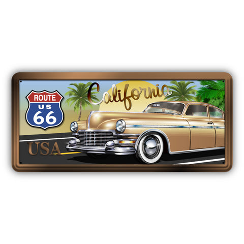 Route 66 California Wooden Sign - Sign Store