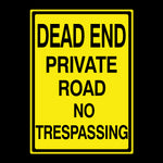 Dead End Metal Sign - Sign Store