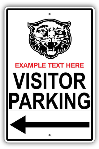 Custom Visitor Parking Metal Sign - Sign Store