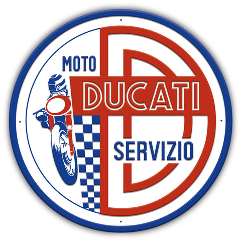 Ducati Motorcycle Metal Sign