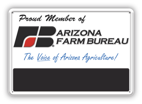 Arizona Farm Bureau Custom Metal Sign