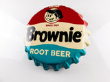 Brownie Rt. Beer Bottle-Cap Sign