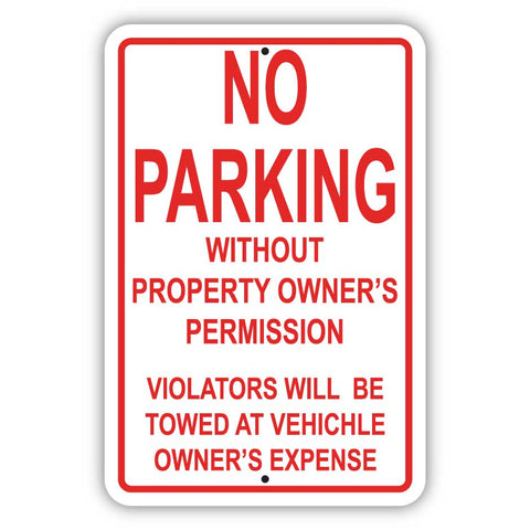 No Parking Without Permission Sign