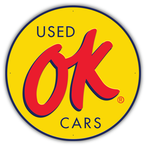 OK Used Cars Circle Sign