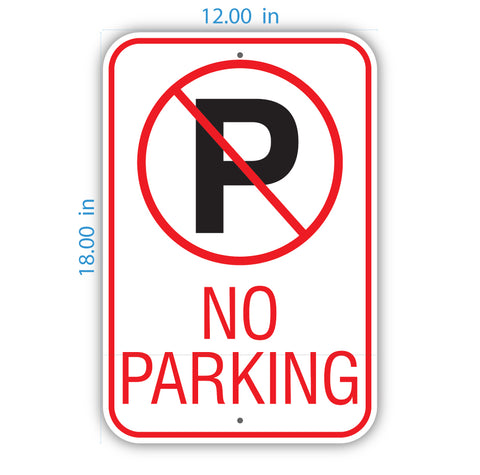 No-Parking Reflective Sign