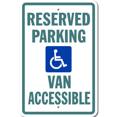 Van Accessible Parking Sign
