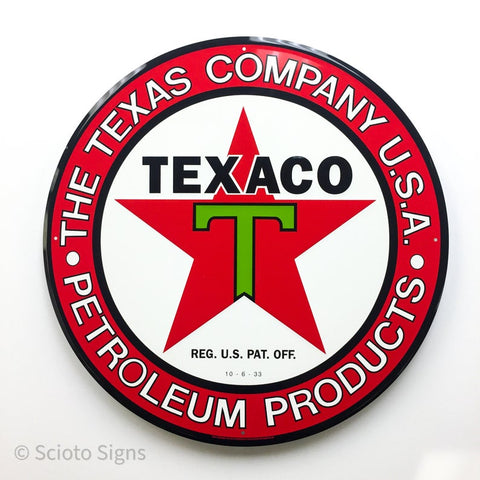 Texaco Petroleum Metal Sign