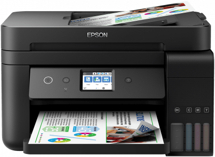 EcoTank ITS L6190,  Multi-fuction/Ink tank system, C4 (Envelope), 4 Ink Cartridges, KCYM, Print, Scan, Copy, Fax, LCD screen:  Touch-panel,  USB, Ethernet, WiFi, Wi-Fi Direct, - Afatrading Company Limited