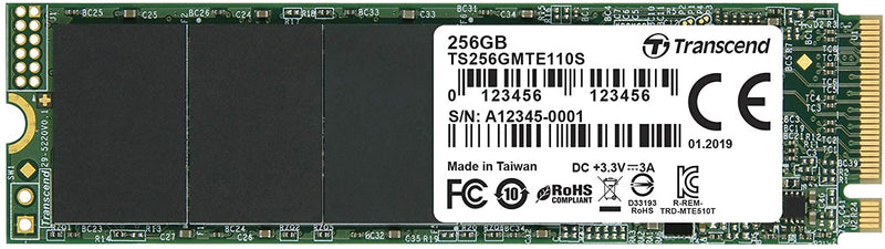 Transcend 256GB Nvme PCIe Gen3 X4 MTE110S M.2 SSD Solid State Drive (TS256GMTE110S) - Afatrading Company Limited