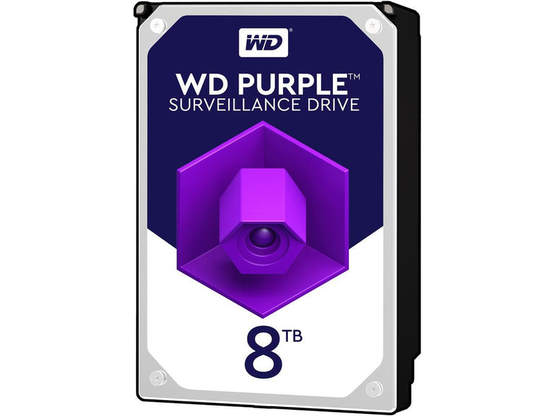 WD 8TB Surveillance Hard Disk Drive - 5400 RPM Class SATA 6Gb/s 128MB Cache 3.5 Inch - ( - Afatrading Company Limited