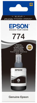 Epson T7741 Pigment Black ink bottle 140ml for WorkForce M100 ,WorkForce M105 , WorkForce M200, EcoTank L605  EcoTank L655 ,EcoTank L1455 - Afatrading Company Limited