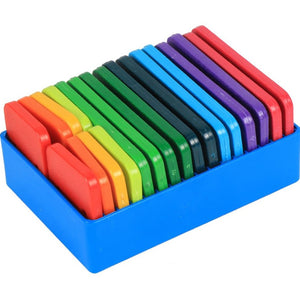 Knitter's Pride set of colorful blocking pins in holding case for knitting and crochet projects.