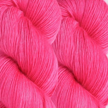 Load image into Gallery viewer, Skein of Madelinetosh A.S.A.P. Super Bulky weight yarn in the color Pop Rocks (Pink) for knitting and crocheting.