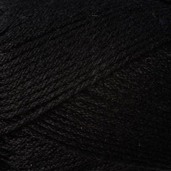 Skein of Berroco Comfort DK DK weight yarn in the color Liquorice (Black) for knitting and crocheting.