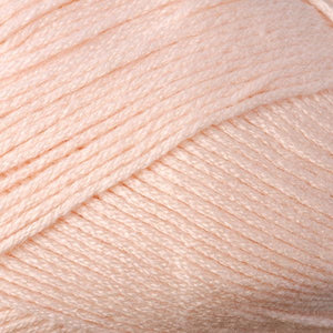 Skein of Berroco Comfort DK DK weight yarn in the color Peach (Orange) for knitting and crocheting.