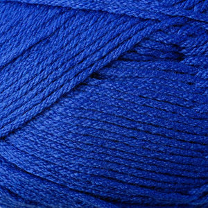 Skein of Berroco Comfort DK DK weight yarn in the color Primary Blue (Blue) for knitting and crocheting.