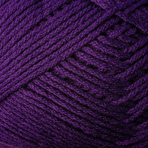 Skein of Berroco Comfort DK DK weight yarn in the color Purple (Purple) for knitting and crocheting.