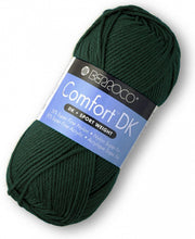 Load image into Gallery viewer, Skein of Berroco Comfort DK DK weight yarn in the color Spruce (Green) for knitting and crocheting.