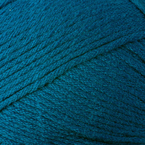 Skein of Berroco Comfort Worsted Worsted weight yarn in the color Aegan Sea (Green) for knitting and crocheting.