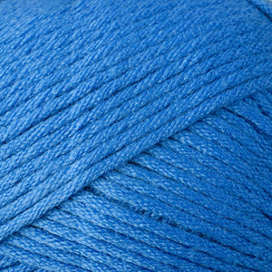 Skein of Berroco Comfort Worsted Worsted weight yarn in the color Delft Blue (Blue) for knitting and crocheting.