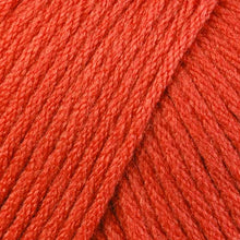 Load image into Gallery viewer, Skein of Berroco Comfort Worsted Worsted weight yarn in the color Persimmon (Orange) for knitting and crocheting.