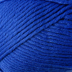 Skein of Berroco Comfort Worsted Worsted weight yarn in the color Primary Blue (Blue) for knitting and crocheting.