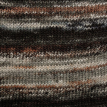 Load image into Gallery viewer, Skein of Berroco Millefiori Worsted weight yarn in the color Terra (Black) for knitting and crocheting.