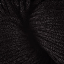 Load image into Gallery viewer, Skein of Berroco Modern Cotton Worsted weight yarn in color Longspur (Black) for knitting and crocheting.