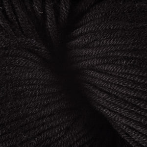 Skein of Berroco Modern Cotton Worsted weight yarn in color Longspur (Black) for knitting and crocheting.