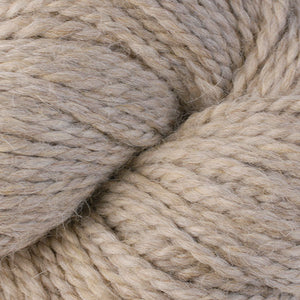 Skein of Berroco Ultra Alpaca Chunky Bulky weight yarn in the color Barley (Tan) for knitting and crocheting.