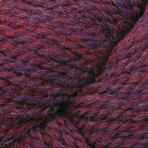 Skein of Berroco Ultra Alpaca Chunky Bulky weight yarn in the color Berry Pie Mix (Purple) for knitting and crocheting.