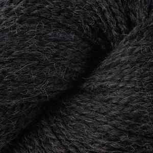 Skein of Berroco Ultra Alpaca Chunky Bulky weight yarn in the color Charcoal Mix (Gray) for knitting and crocheting.