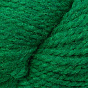 Skein of Berroco Ultra Alpaca Chunky Bulky weight yarn in the color Emerald Mix (Green) for knitting and crocheting.