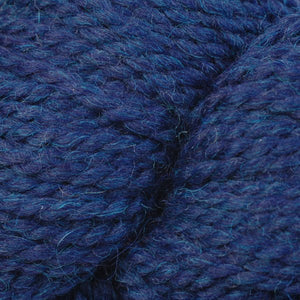 Skein of Berroco Ultra Alpaca Chunky Bulky weight yarn in the color Indigo Mix (Blue) for knitting and crocheting.