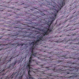 Skein of Berroco Ultra Alpaca Chunky Bulky weight yarn in the color Lavender Mix (Purple) for knitting and crocheting.
