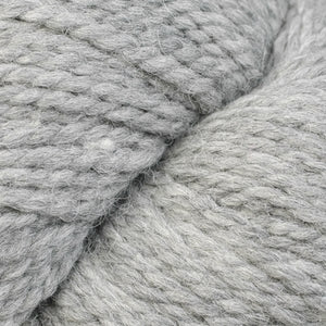 Skein of Berroco Ultra Alpaca Chunky Bulky weight yarn in the color Light Gray (Gray) for knitting and crocheting.