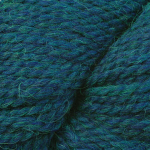 Skein of Berroco Ultra Alpaca Chunky Bulky weight yarn in the color Oceanic Mix (Blue) for knitting and crocheting.