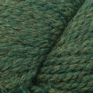 Skein of Berroco Ultra Alpaca Chunky Bulky weight yarn in the color Peat Mix (Green) for knitting and crocheting.