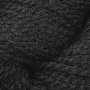 Skein of Berroco Ultra Alpaca Chunky Bulky weight yarn in the color Pitch Black (Black) for knitting and crocheting.