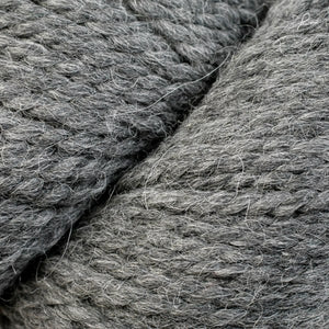 Skein of Berroco Ultra Alpaca Chunky Bulky weight yarn in the color Sale & Pepper (Gray) for knitting and crocheting.